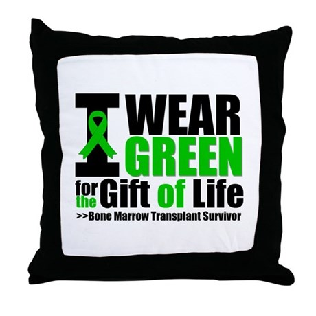 BMT I Wear Green Throw Pillow