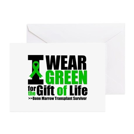 BMT I Wear Green Greeting Cards (Pk of 20)