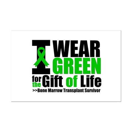 BMT I Wear Green Mini Poster Print