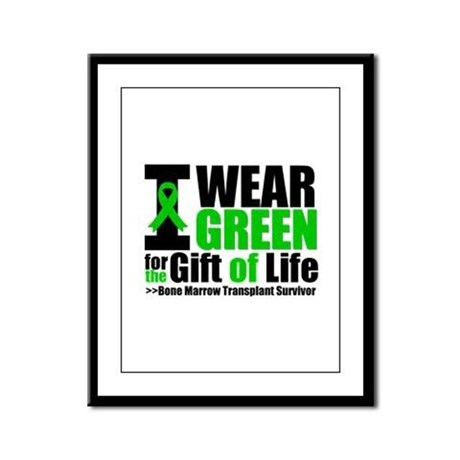 BMT I Wear Green Framed Panel Print