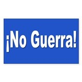 no guerra... Rectangle Decal