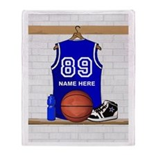 Personalized Basketball Jerse Throw Blanket