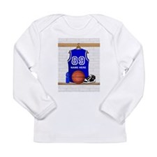 Personalized Basketball Jerse Long Sleeve Infant T