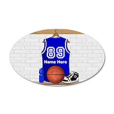 Personalized Basketball Jerse 38.5 x 24.5 Oval Wal