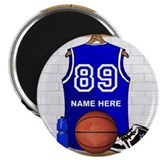 "Personalized Basketball Jerse 2.25"" Magnet (10 pac"