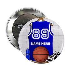 """Personalized Basketball Jerse 2.25"""" Button"""