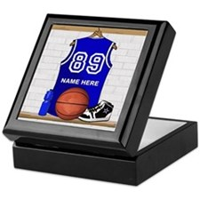 Personalized Basketball Jerse Keepsake Box