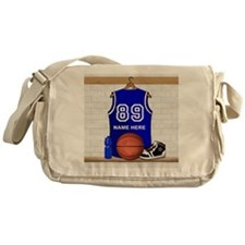 Personalized Basketball Jerse Messenger Bag