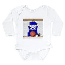 Personalized Basketball Jerse Long Sleeve Infant B