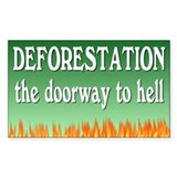 deforestation... Rectangle Decal