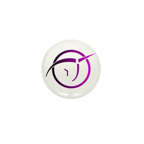 Invisible Pink Unicorn Mini Button