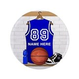 Personalized Basketball Jerse 3.5&quot; Button (100 pac