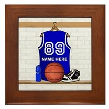 Personalized Basketball Jerse Framed Tile
