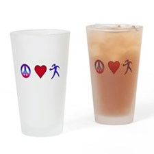 Peace Love Discus Drinking Glass