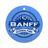 Banff Natl Park Cobalt Ornament (Round)