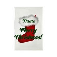 Christmas Stocking Rectangle Magnet