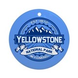 Yellowstone Blue Ornament (Round)