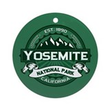Yosemite Forest Green Ornament (Round)