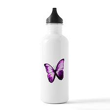 Purple Butterfly Water Bottle