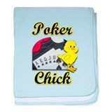 Poker Chick #2 baby blanket