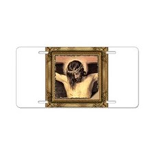 Christ Crucified Aluminum License Plate