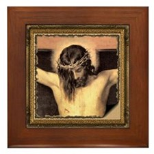 Christ Crucified Framed Tile