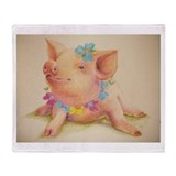 Cute Swine Throw Blanket