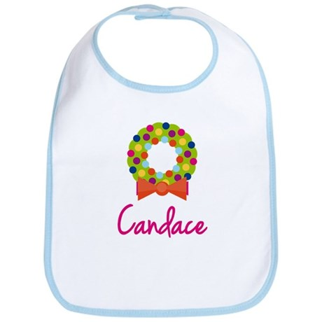 Christmas Wreath Candace Bib
