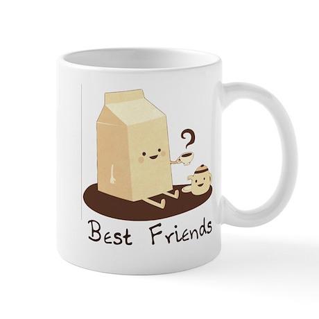 milk and coffee best friend mug by mjfd