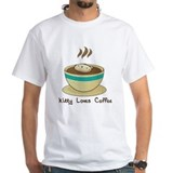 Kitty Loves Coffee (w & w/o t Shirt