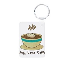 Kitty Loves Coffee (w & w/o t Keychains
