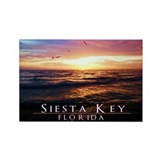 Siesta Key Sunset Waves Rectangle Magnet