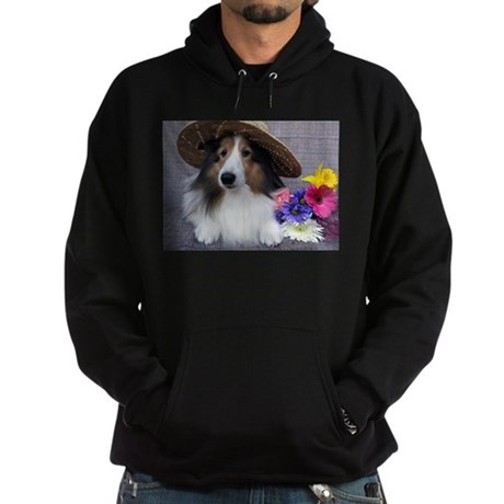 Dog in a Hat Hoodie (dark)