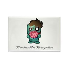 Zombies Are Everywhere! Rectangle Magnet (100 pack