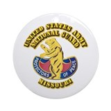 Army National Guard - Missouri Ornament (Round)