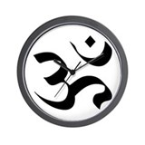 Om Meditation Symbol Wall Clock