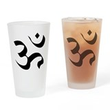 Om Meditation Symbol Drinking Glass