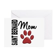 Saint Bernard Mom 2 Greeting Cards (Pk of 20)