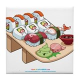 Kawaii Sushi Platter Tile Coaster