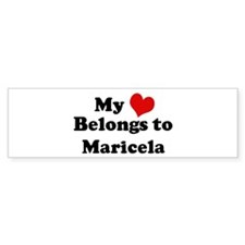 My Heart: Maricela Bumper Bumper Sticker