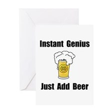 Instant Genius Beer Greeting Card