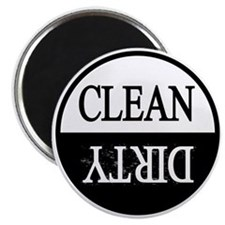 Clean dirty black border dishwasher Magnet