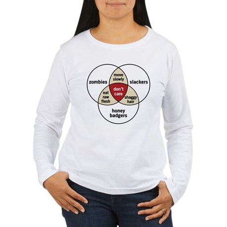 Zombies Honey Badgers Slacker Women's Long Sleeve