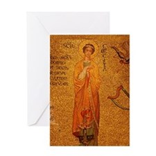 St Cecilia Greeting Card