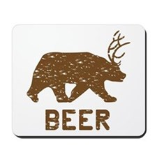 Bear + Deer = Beer Mousepad