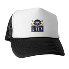 USN Eagle Anchors Honor Trucker Hat