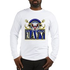 USN Eagle Anchors Honor Long Sleeve T-Shirt