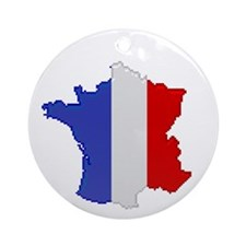 """Pixel France"" Ornament (Round)"