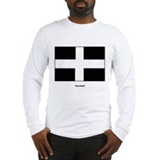 Cornish Cornwall Flag (Front) Long Sleeve T-Shirt