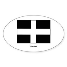 Cornish Cornwall Flag Oval Decal